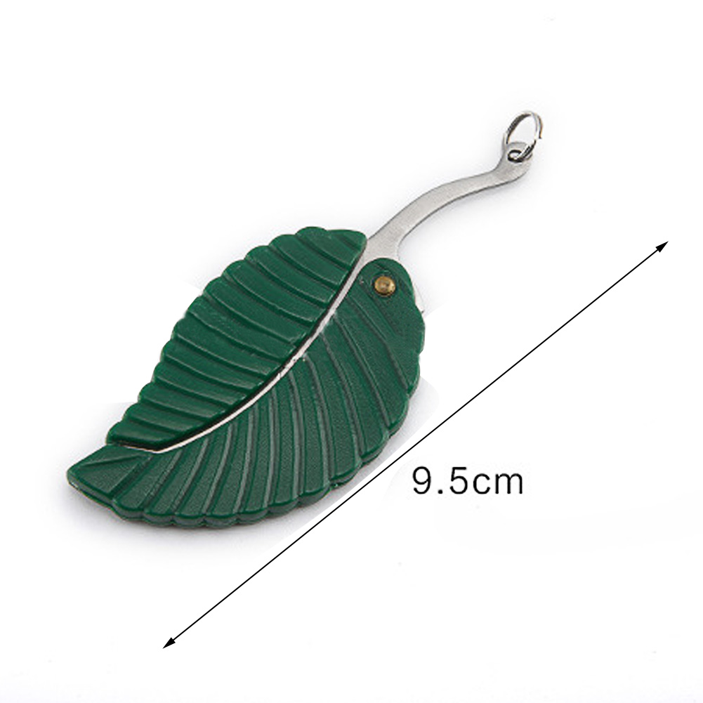 Portable Stainless Steel Foldable Pocket Leaf Knife Keychain Keyring