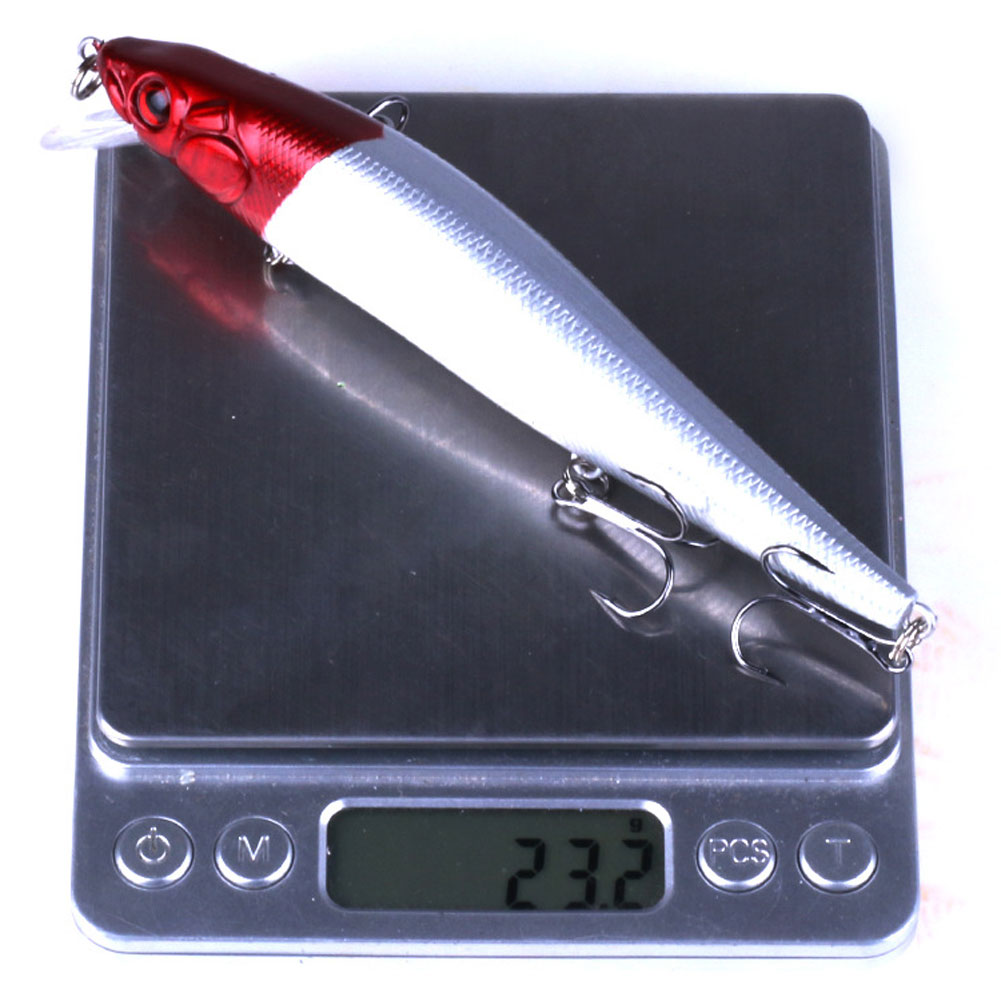 14cm 23g Bionic Plastic Minnow Fishing Lure Sea Fish Crank Bait Hook Tackle
