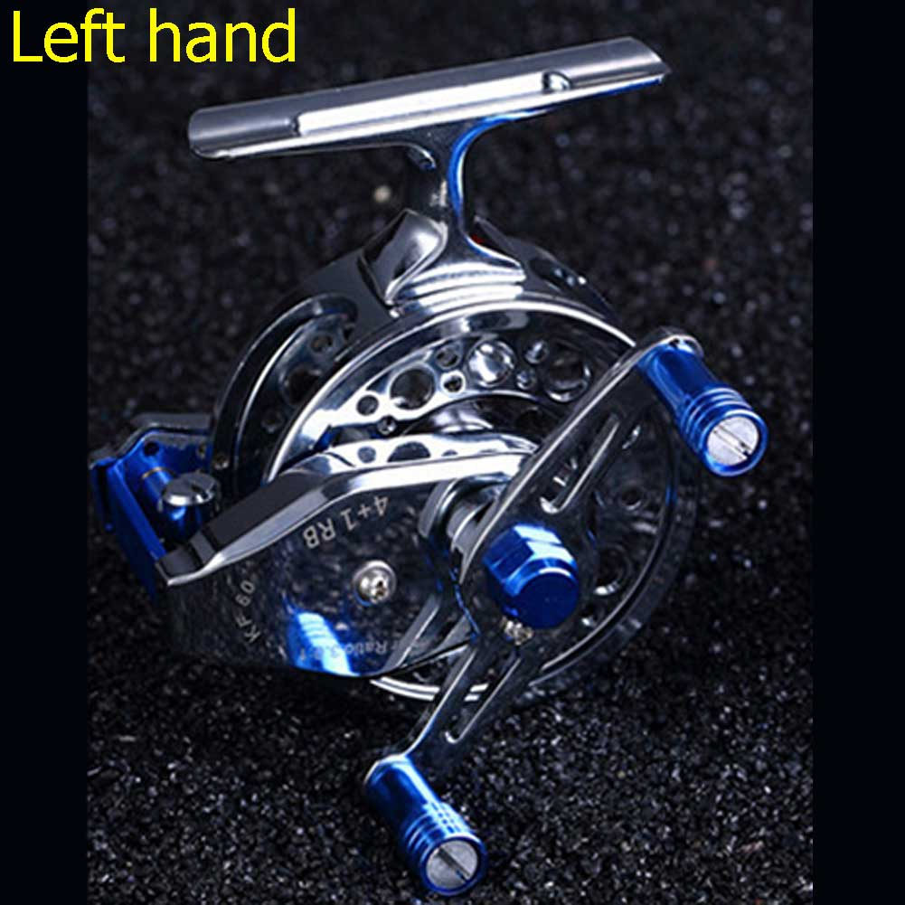 New 5BB Metal Left/Right Hand Dual Head Rock Arm Raft Fishing Reel Wheel