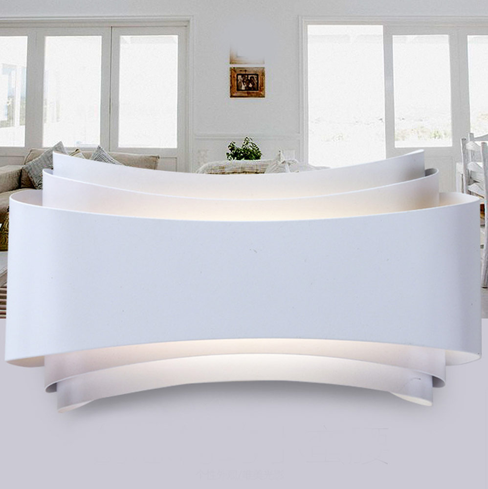 Modern 10W LED Wall Sconces Lamp Fixture Living Room Hotel Canteen ...