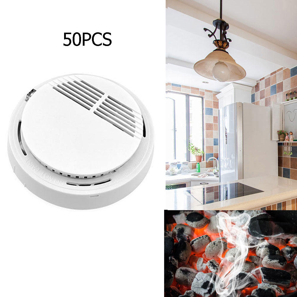 Wholesale 50pc Wireless 85db/m Fire Smoke Detector Tester Sensor for Home Security