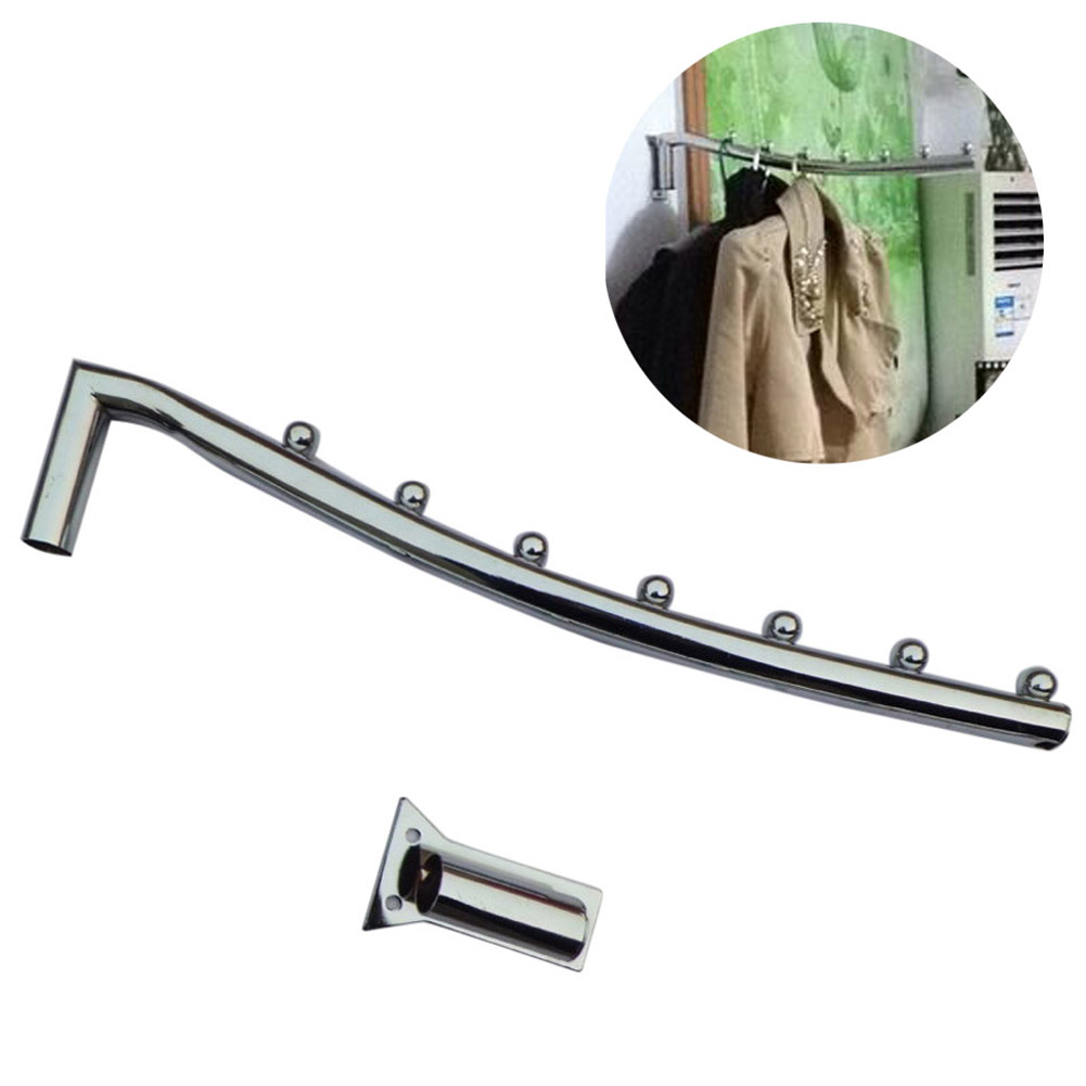 Wholesale 40cm Stainless Steel Wall Mount Clothes Hanger Rack Hook W/Swing Arm Holder
