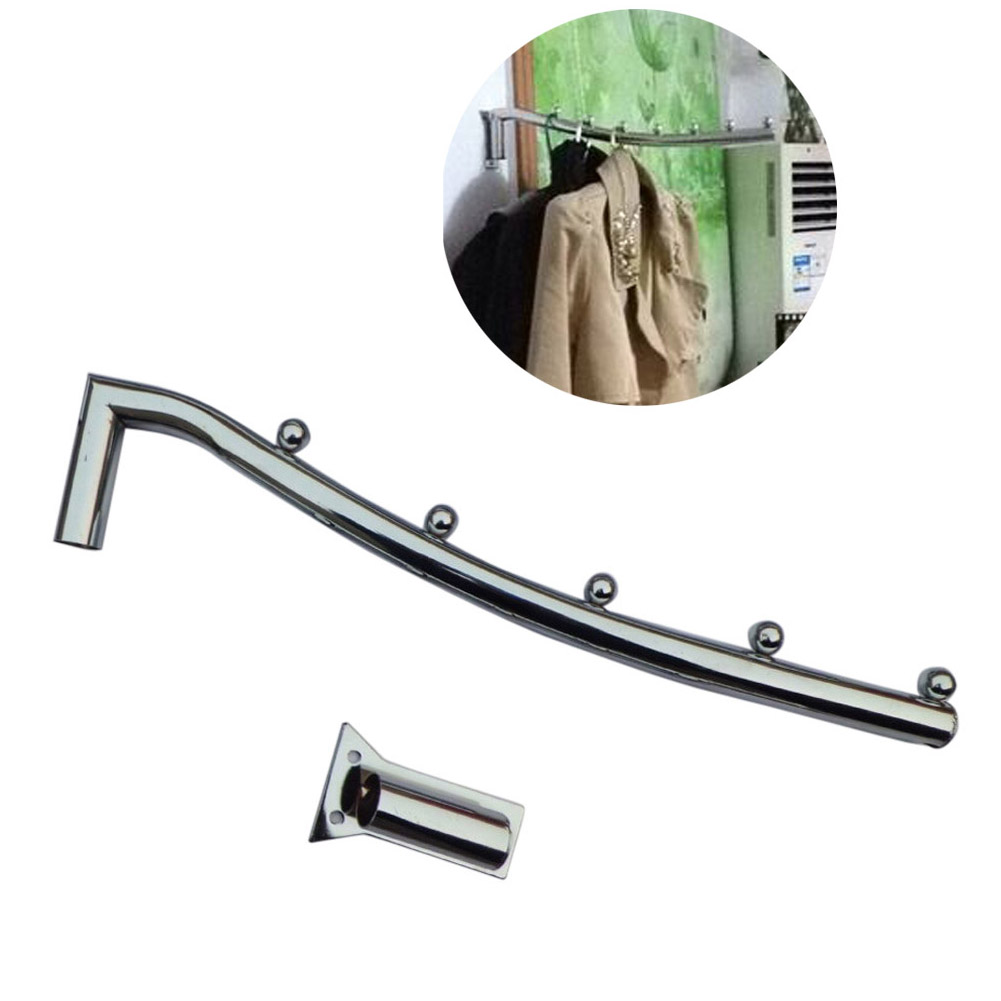 Wholesale 38cm Stainless Steel Wall Mount Clothes Hanger Rack Hook W/Swing Arm Holder
