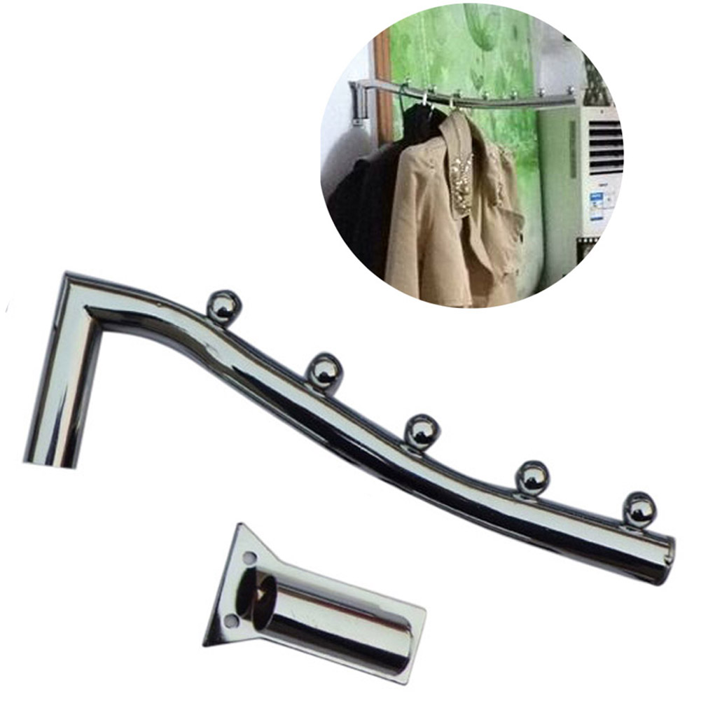 Wholesale 28cm Stainless Steel Wall Mount Clothes Hanger Rack Hook W/Swing Arm Holder