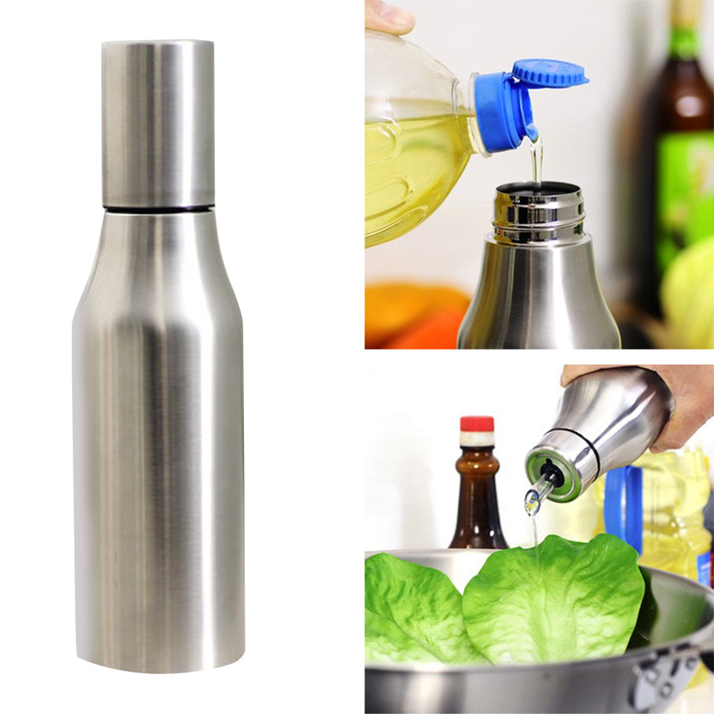 750mlStainless Steel Leafproof Edible Oil VinegarSauce DispenserBottle Pot