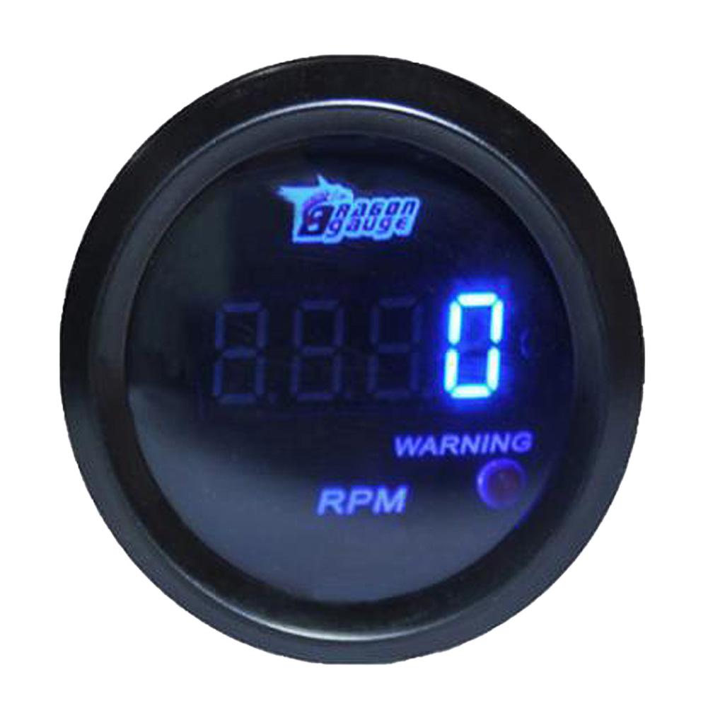 Blue Led Meter : Inch mm car truck universal digital meter gauge w blue
