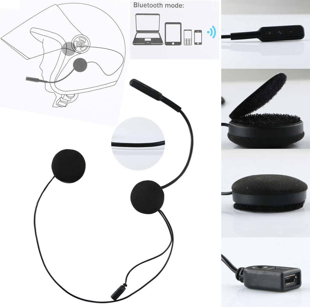 Wireless Bluetooth Motorcycle Helmet Earphone Handsfree Headphone Speaker