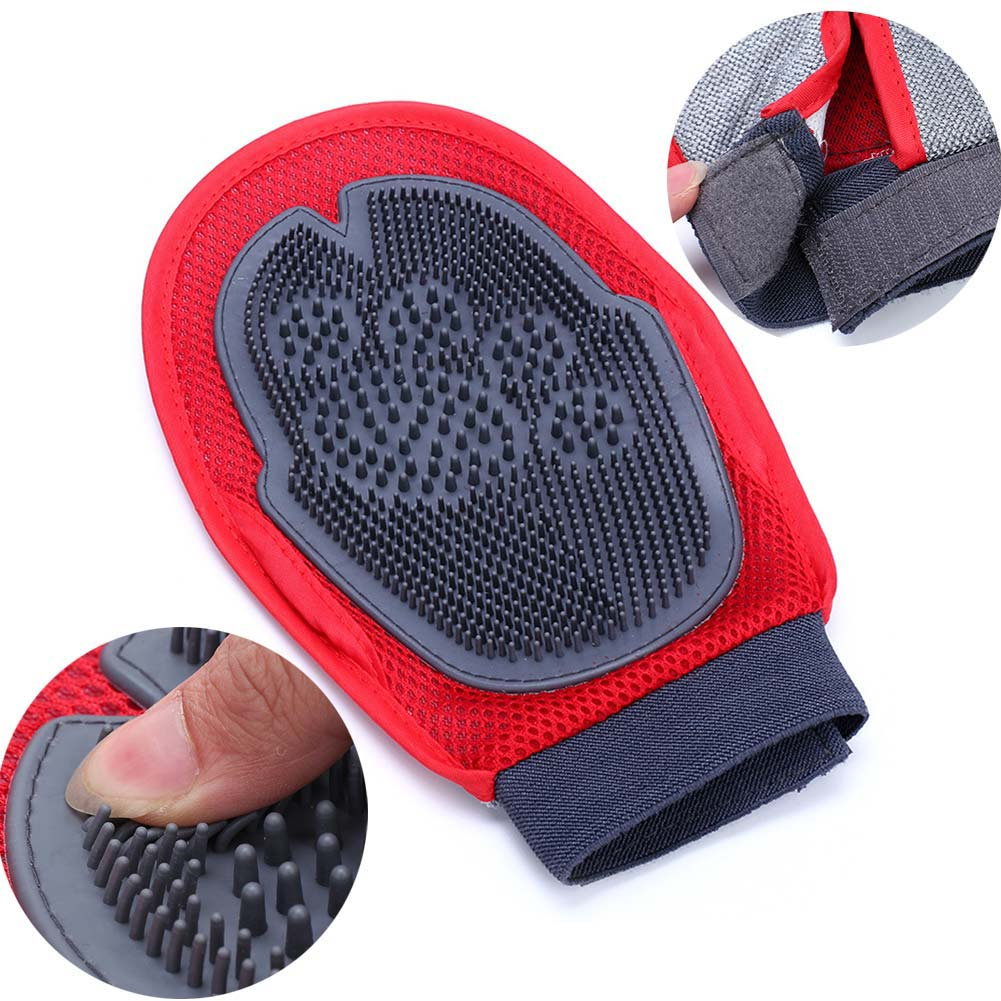 Pet Dog Puppy Cat Grooming Glove Dual Side Hair Remover Massage Brush Comb