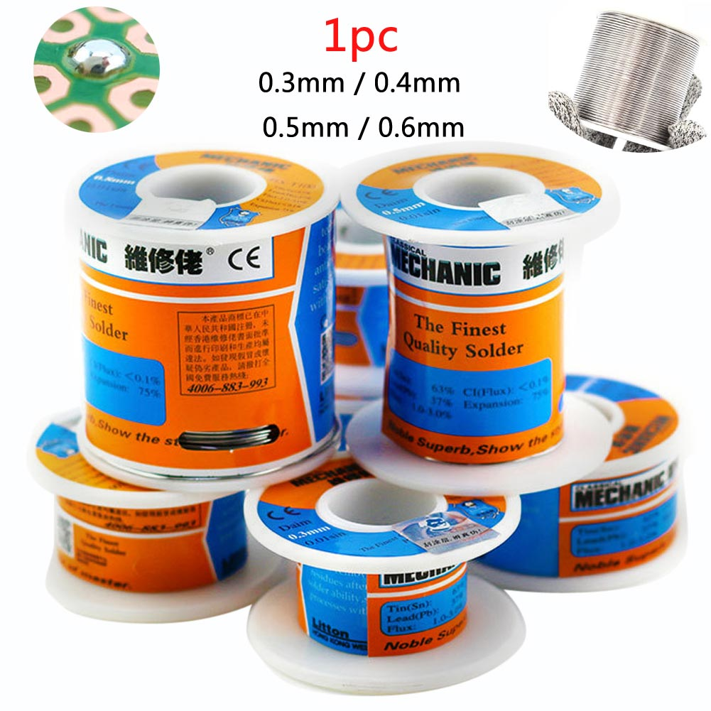 Phone Repair 63/37 Tin Lead Rosin Core Solder Flux Welding Iron Wire Reel