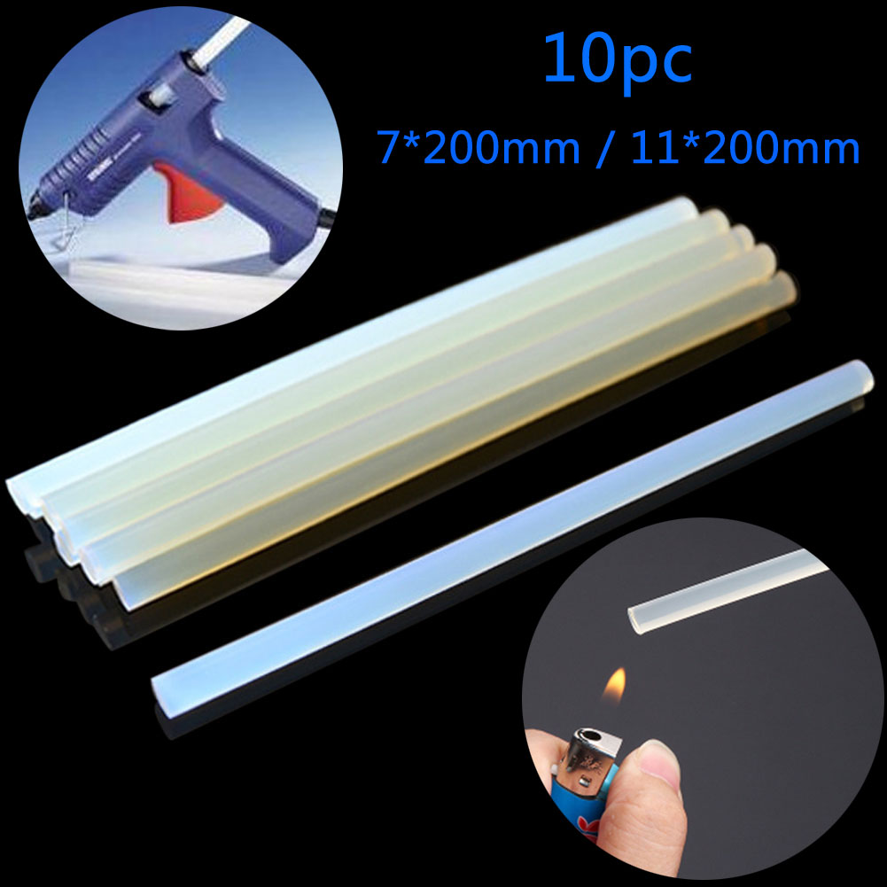 10pc Transparent Hot Melt Glue Stick Adhesive for High Power Gun Craft DIY