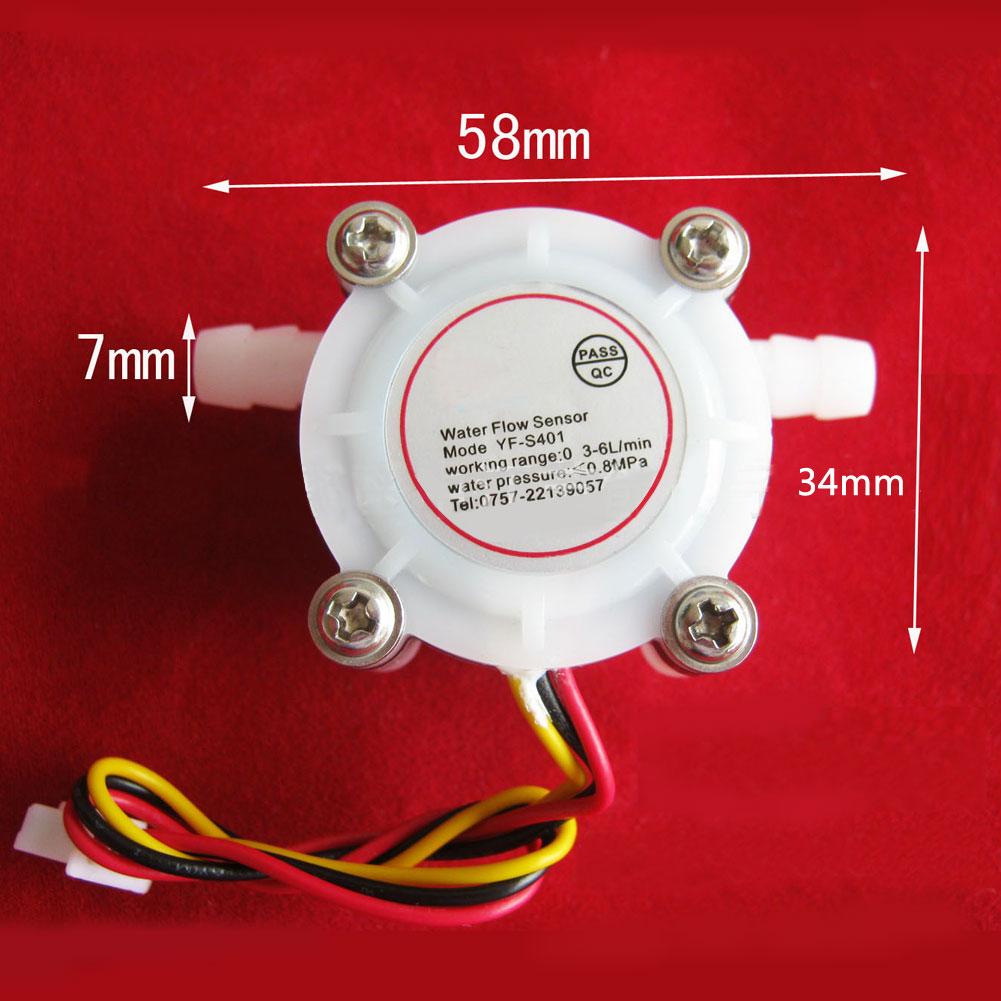 Water Coffee Flow Sensor Switch Control Flowmeter Meter Counter 0.3-6L/min