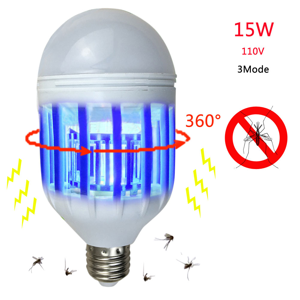 Muted Led Electronic 2in1 Mosquito Insect Fly Killer Lamp