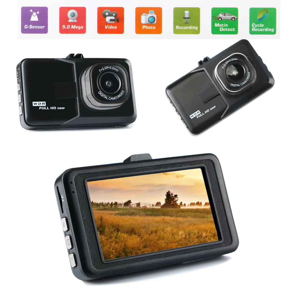 170�Wide Angle Full HD 1080P Car Vehicle Dashboard DVR Camera VideoRecorder
