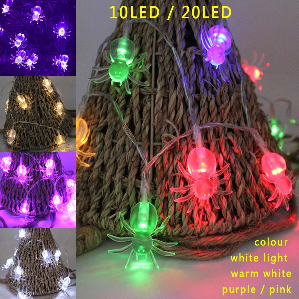 LED Spider Fairy String Light Lamp for Halloween Christmas Party Decor