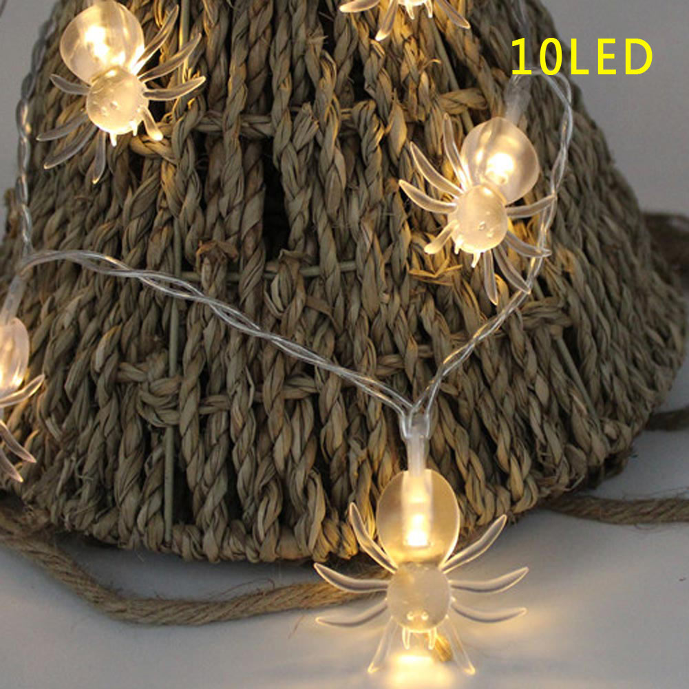 10/20LED Spinnen Lichterkette Halloween Fasching Deko Beleuchtung ...