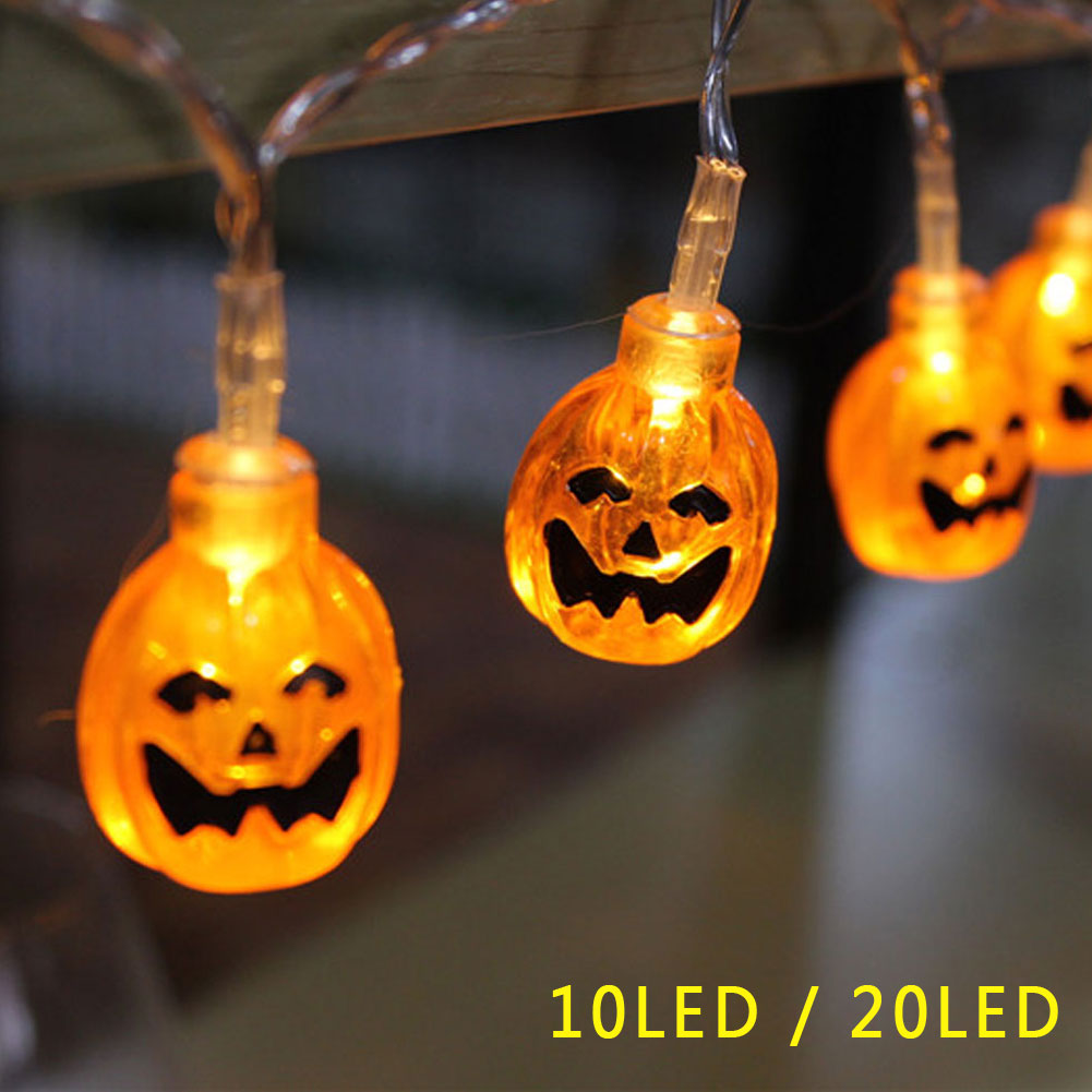 LED Pumpkin Fairy String Light Lamp for Halloween Holiday Party Decor