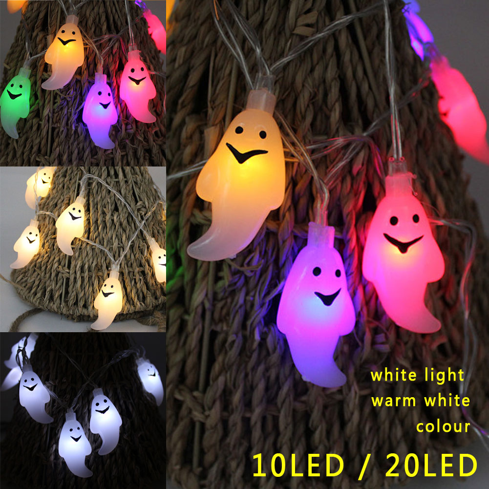 LED Ghost Fairy String Light Lamp for Halloween Christmas Party Decor