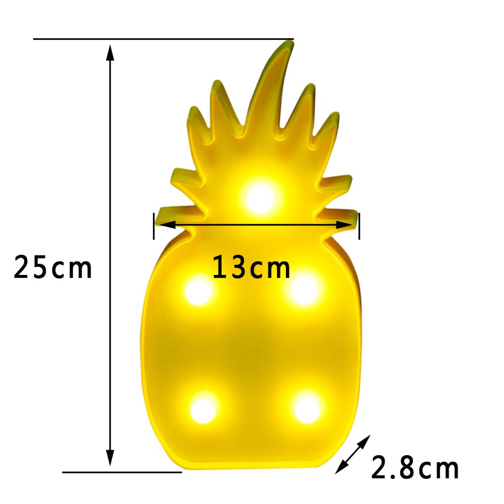 Cute Marquee LED Night Light Bedroom Romantic Table Lamp Home Decor ...