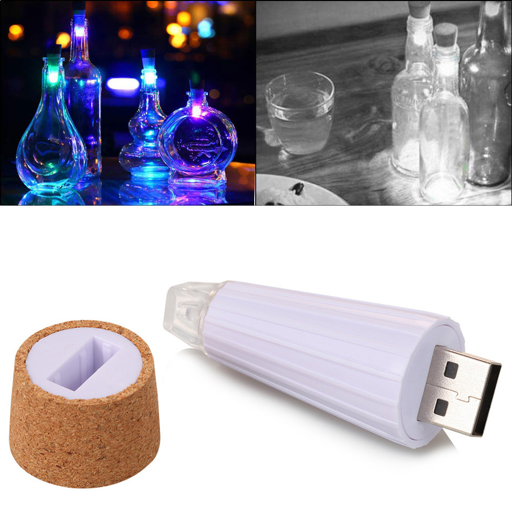 USB Rechargeable LED Glowing Wine Bottle Cork