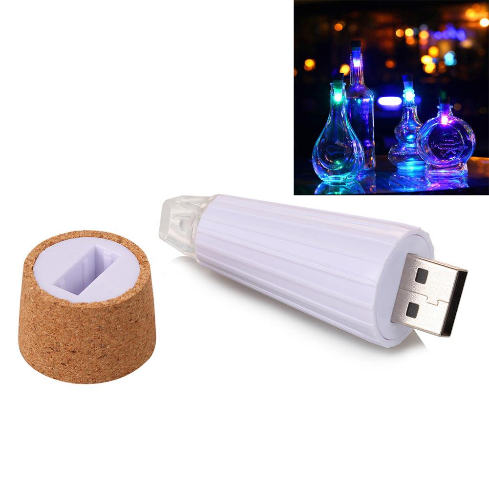 Rechargeable USB LED Fairy Light Cork Lamp Wine Bottle Stopper Party Decor