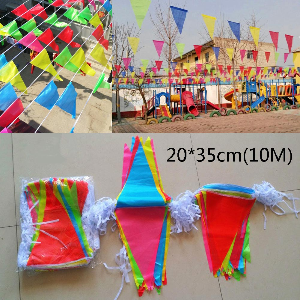 M triangle pennant banner bunting flags party home grand