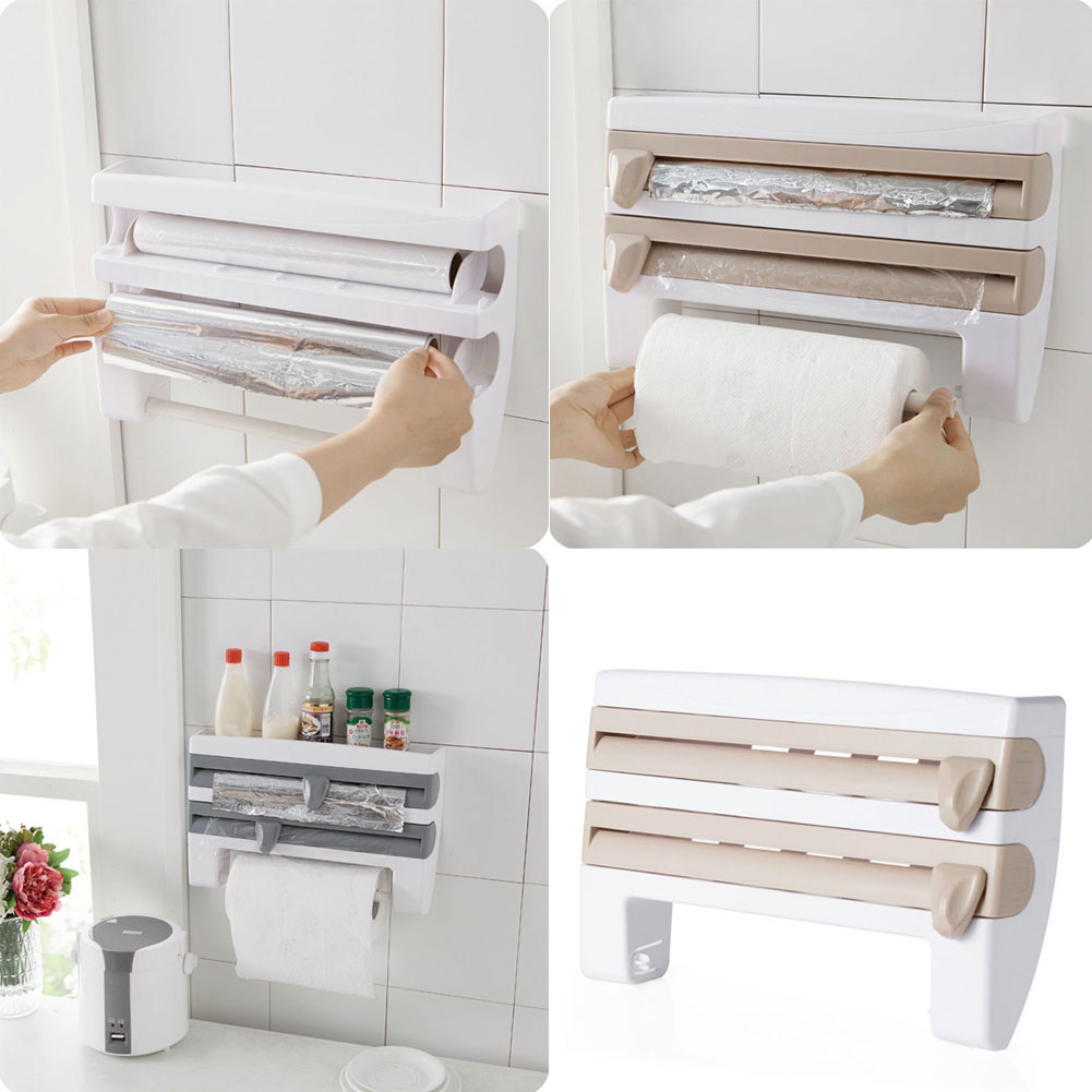 Image Is Loading New Kitchen Roll Dispenser Cling Film Tin Foil