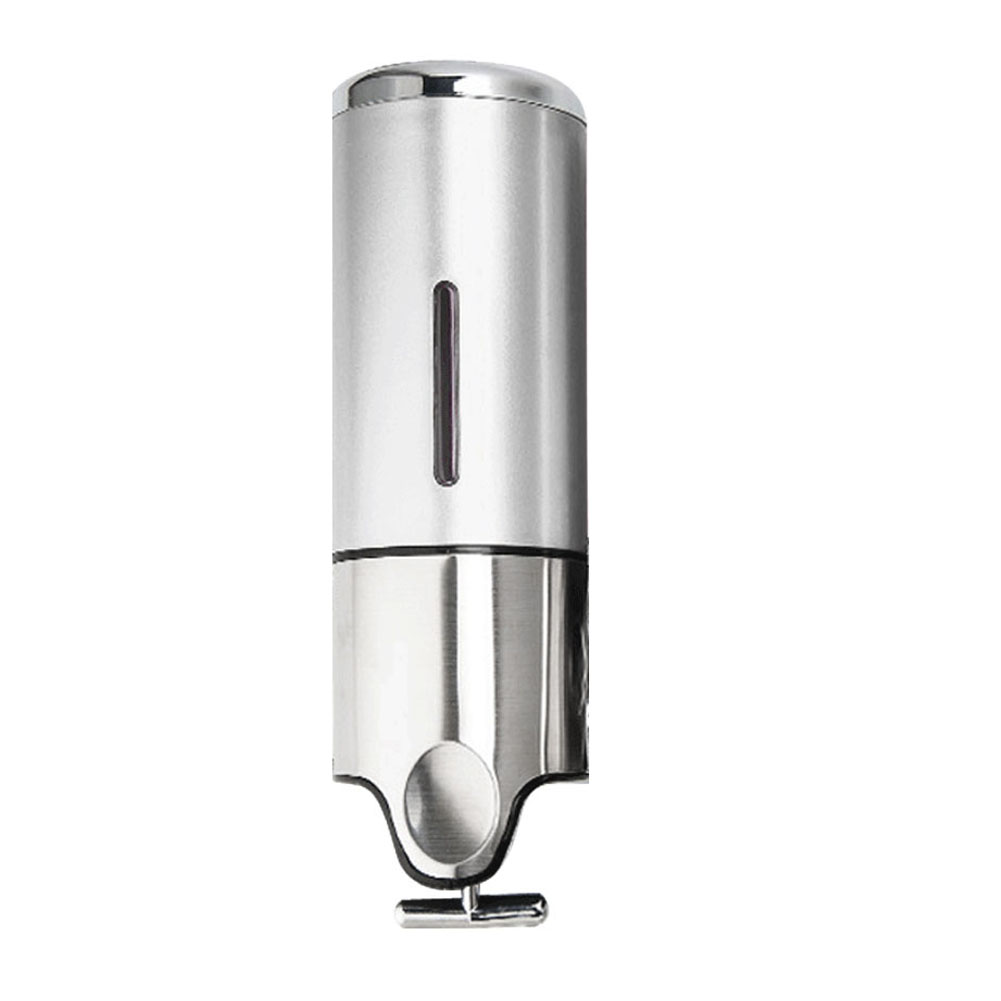 Product Description 500ml Single Pump Stainless Steel Wall Mounted Shower Shampoo Soap Dispenser