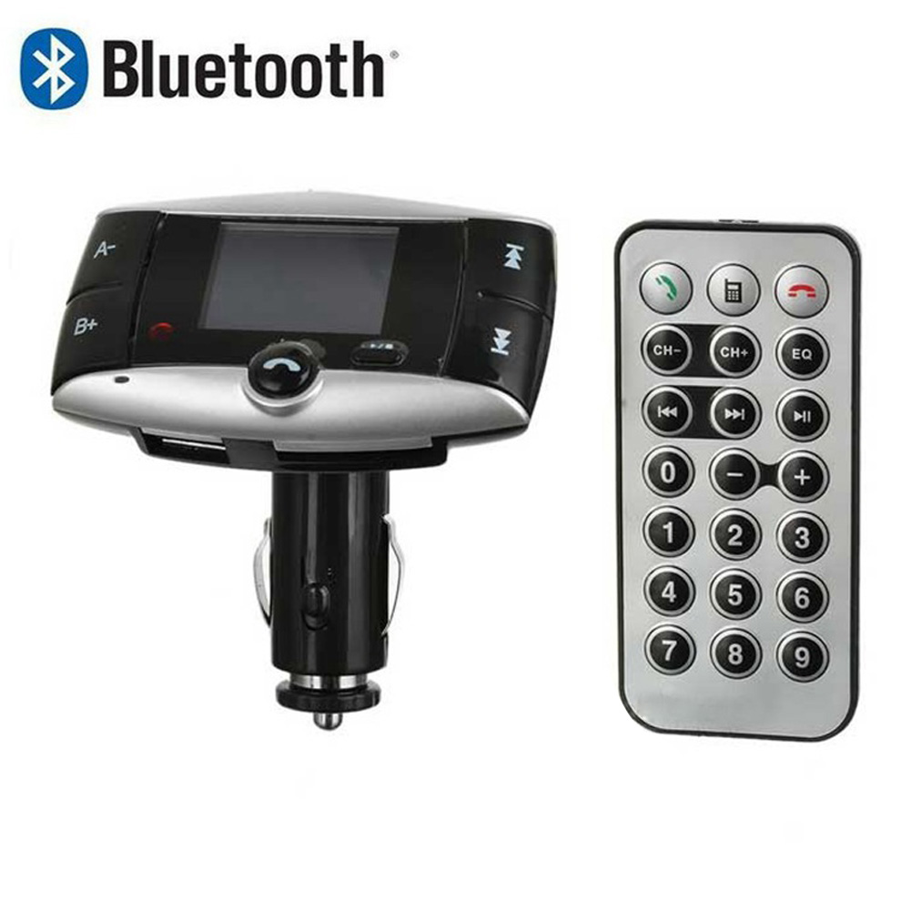 Car Bluetooth Wireless FM Transmitter MP3 Player Modulator Kit W/Remote