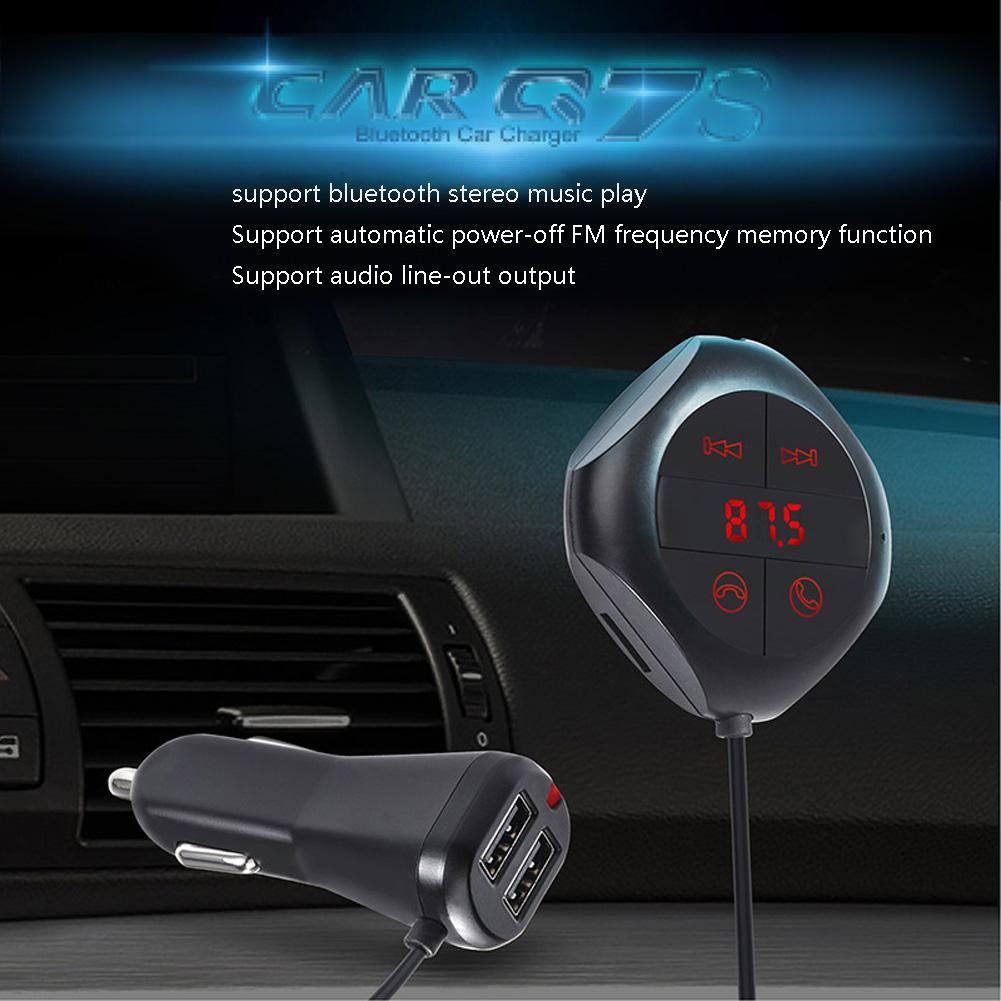 Car Wireless Bluetooth Handsfree Calling FM Transmitter Music MP3 Player