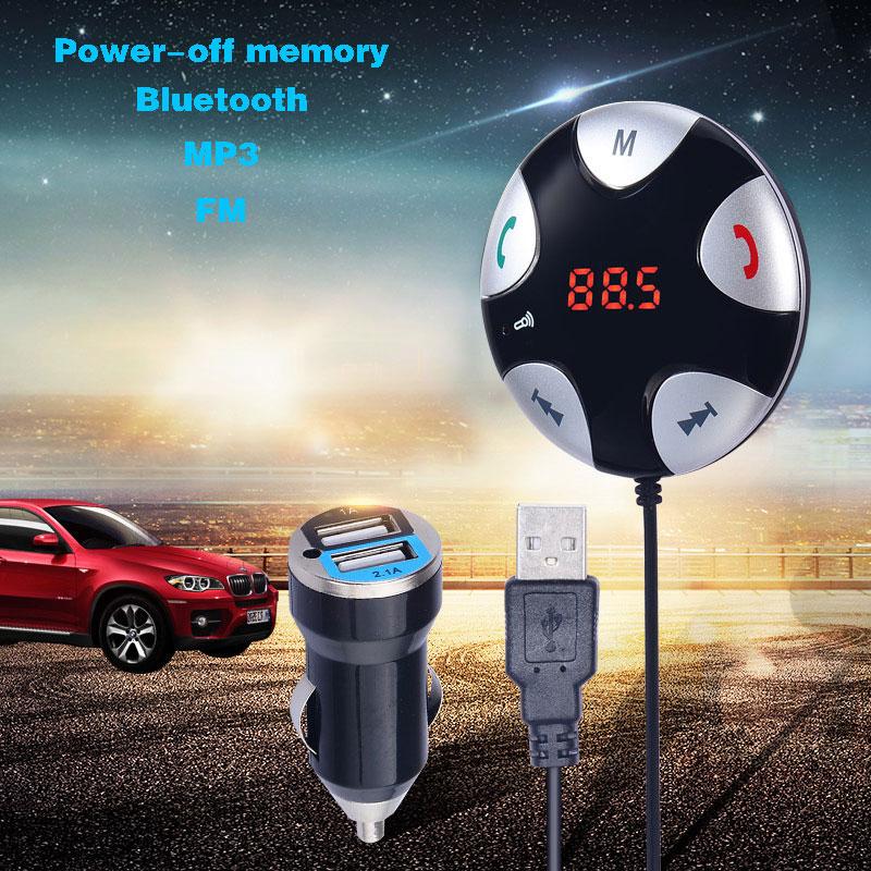 Wireless Hands-free Car Bluetooth FM Transmitter MP3 Player W/Dual USB Port