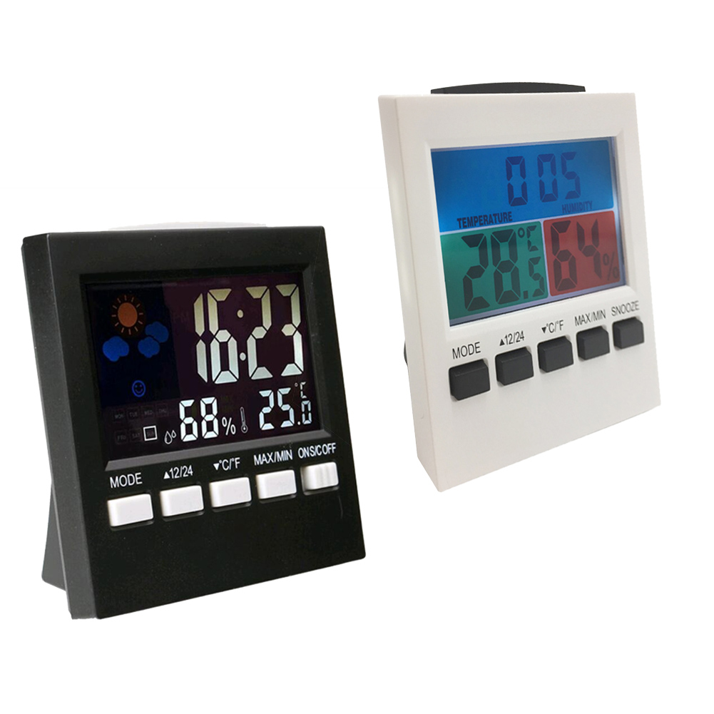 3in1 Multifunction Weather StationDigital Thermometer Hygrometer AlarmClock