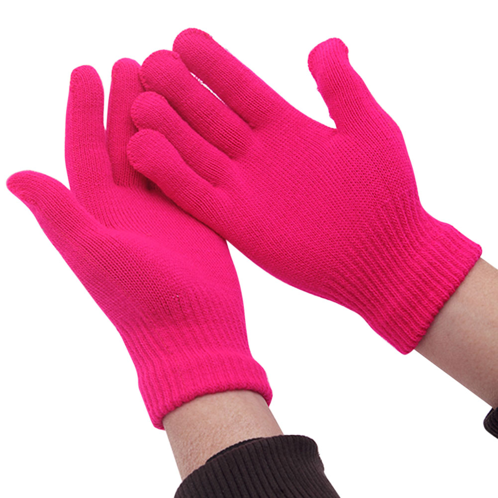 Children Girls Boys Kids Magic Stretchy Mittens Knitted Gloves Winter Warmer Pink LANDUM Kids Winter Gloves