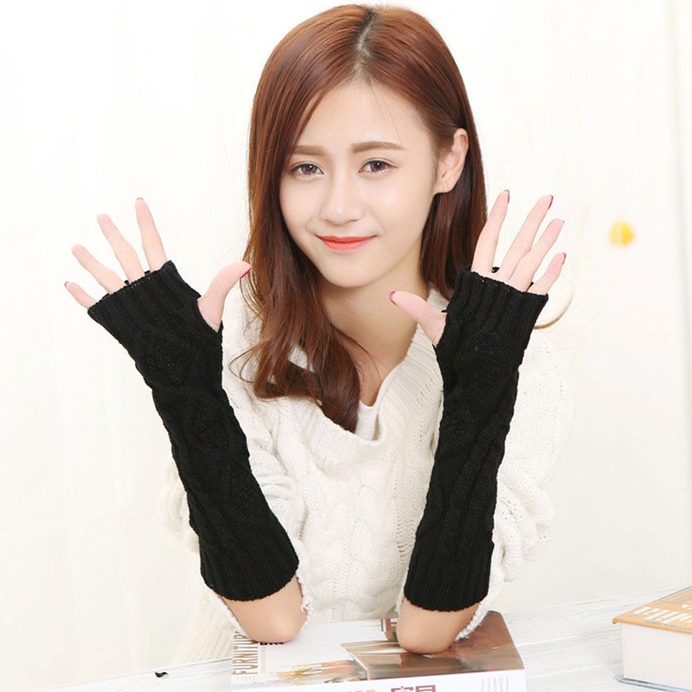Women Fashion Cashmere TouchScreen Full FingerGloves Warm Windproof Mittens #ur