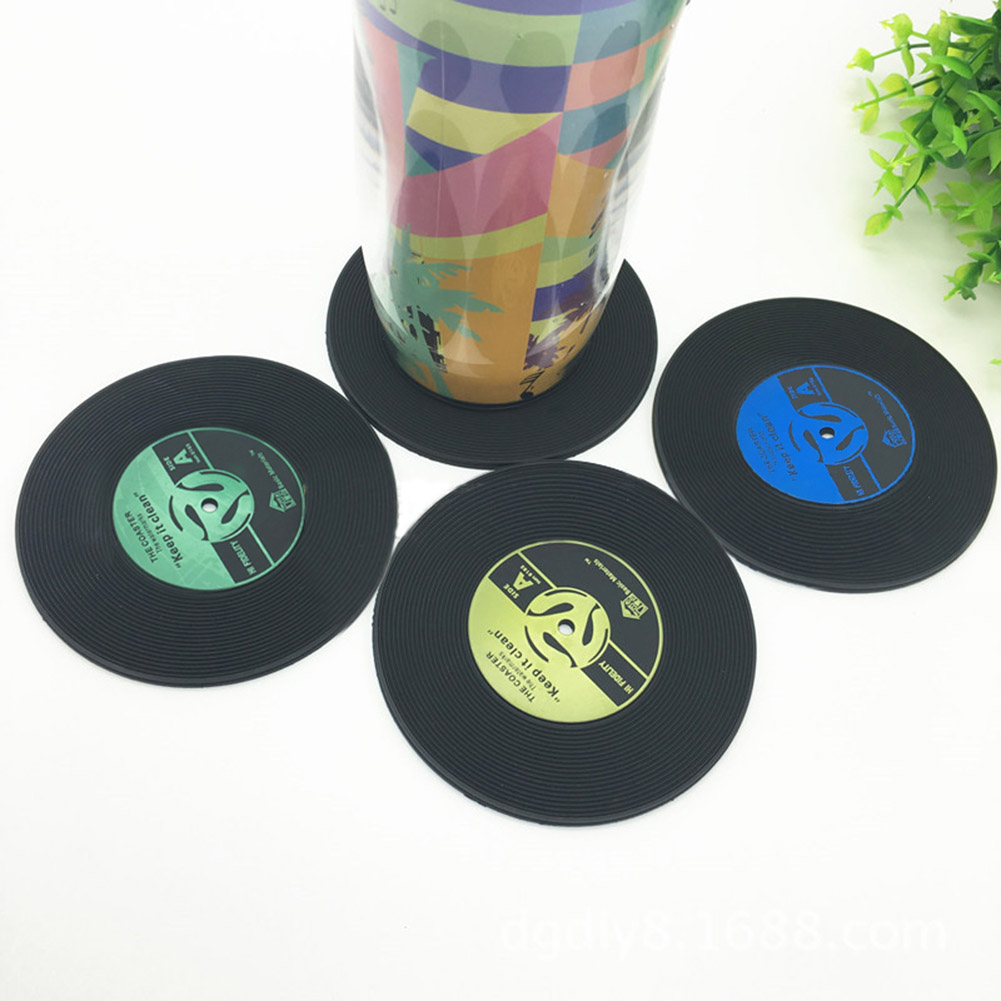Retro Vinyl Record Cd Coaster Table Coffee Drink Cup Mat