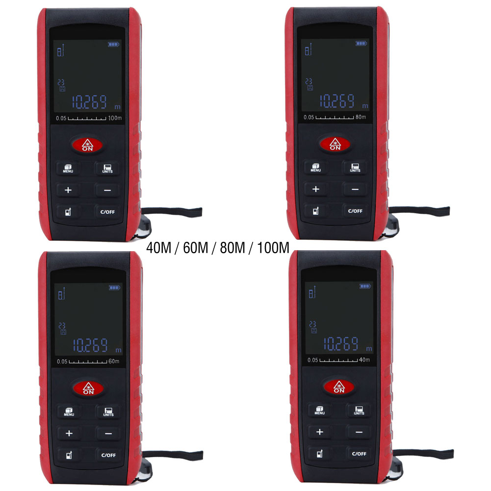 Handheld Digital Laser Distance Meter Range Finder Measure Diastimeter