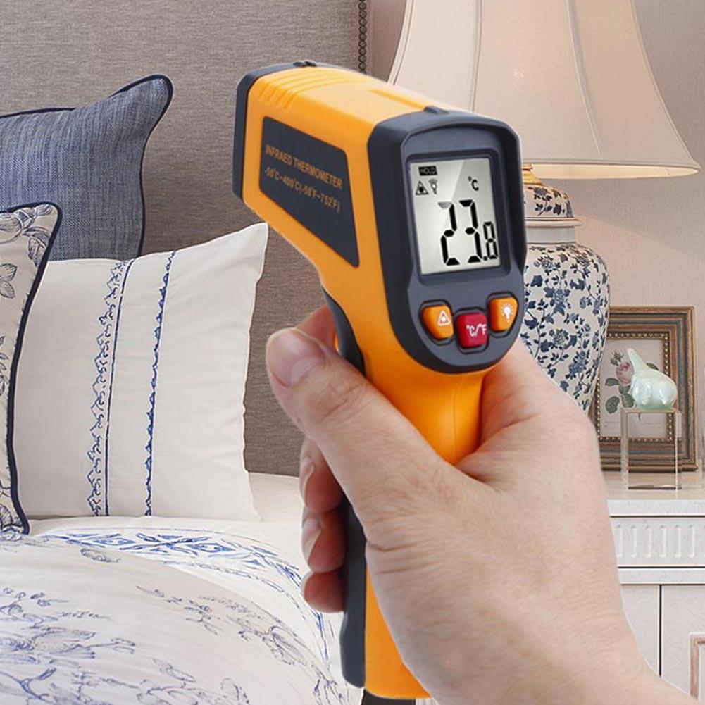 TN400Handheld Non-ContactLaser LCD IR InfraredDigitalTemperatureThermometer