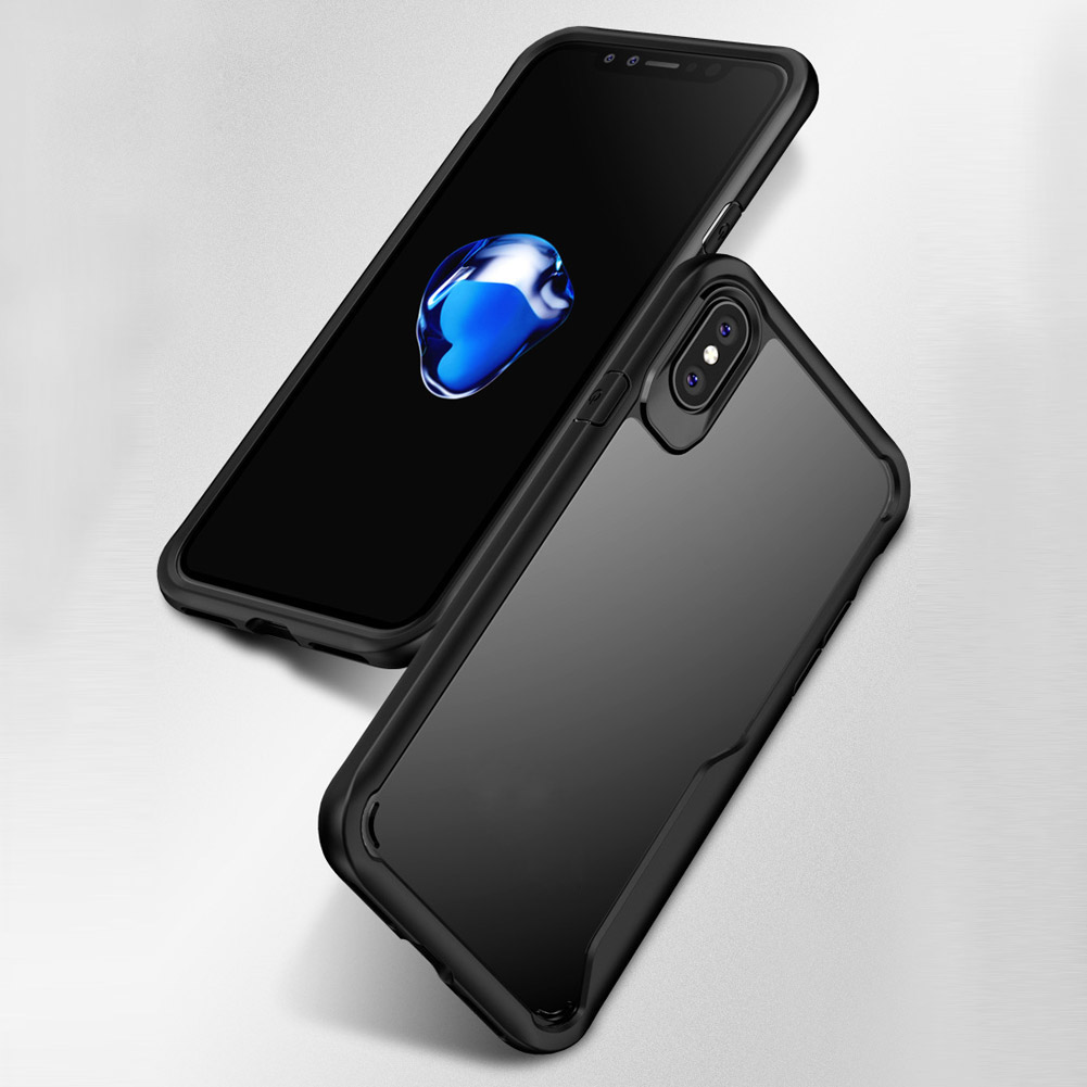Wholesale 2in1 HD Transparent Crystal Case Shockproof Shell Slim Cover For iPhone X