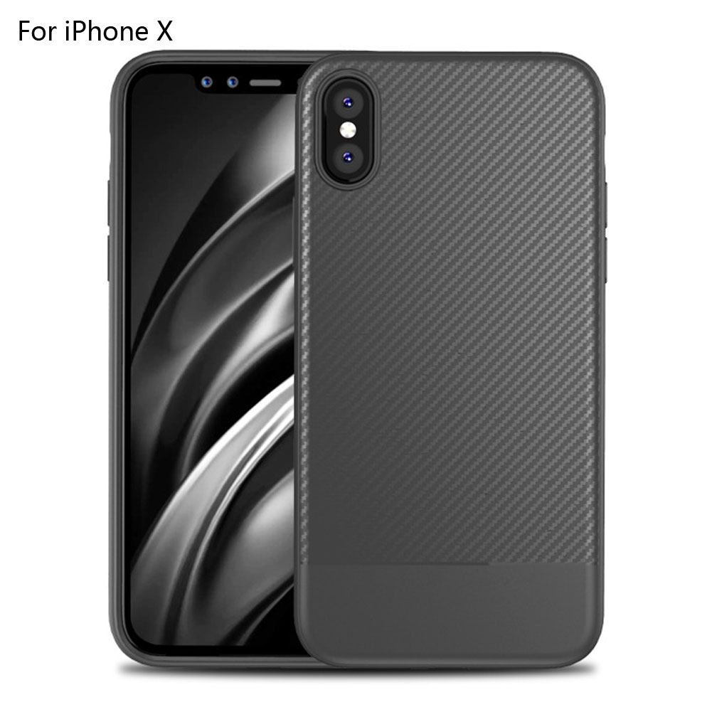 Ultra Thin Carbon Fiber Case Shockproof Shell Slim Cover For iPhone X
