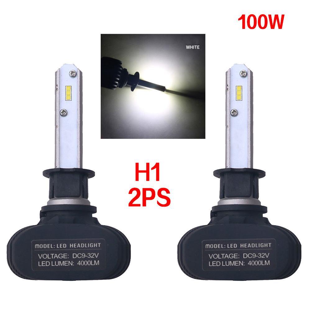 2pc Super Bright COB H1 S1 8000LM 100W LED CarHeadlight Fog Light Lamp Bulb