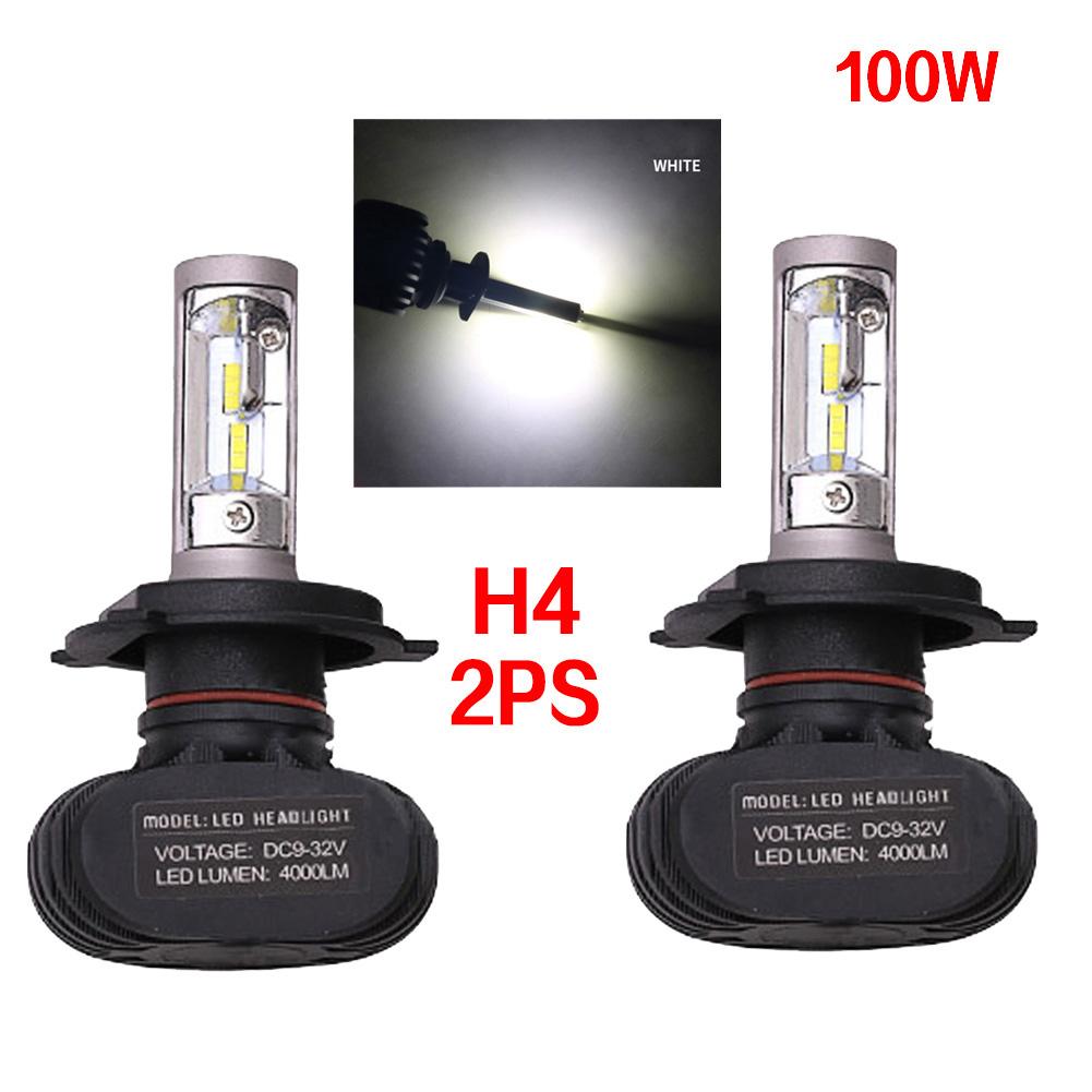 2pc Super Bright COB H4 S1 8000LM 100W LED CarHeadlight Fog Light Lamp Bulb