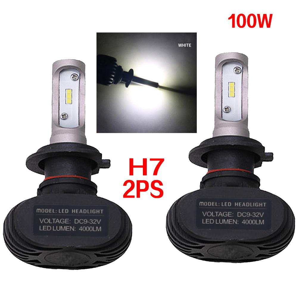 2pc Super Bright COB H7 S1 8000LM 100W LED CarHeadlight Fog Light Lamp Bulb