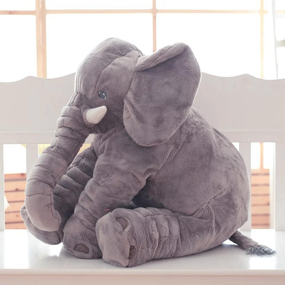 Long Nose Elephant Sleep Pillow Soft Baby Plush Toy Lumbar Cushion Doll