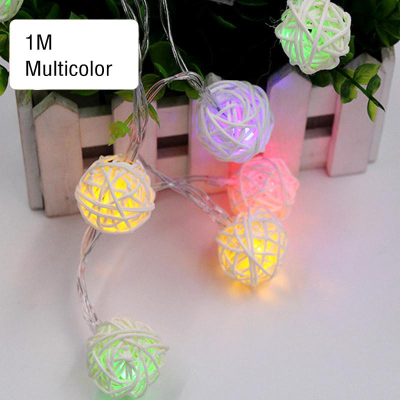 3 lichtfarbe lichterkette mit rattankugeln stringlight rattan handarbeit 1 3m ebay - Lichterkette rattankugeln ...