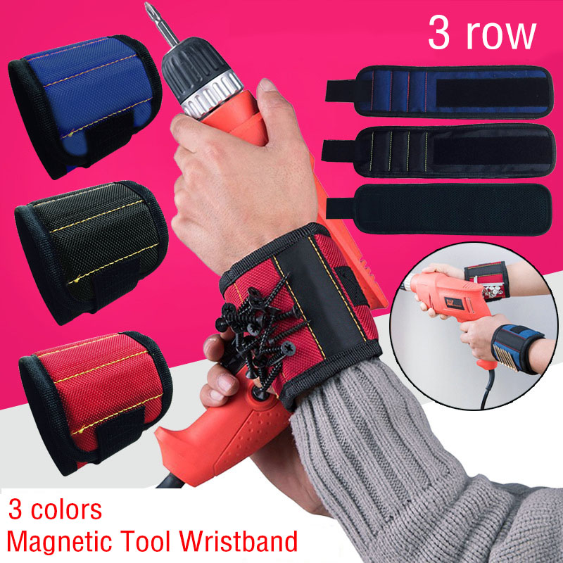 Magnetic Tool Wristband W/Strong Magnet for Holding Screw Nail Drill Bit