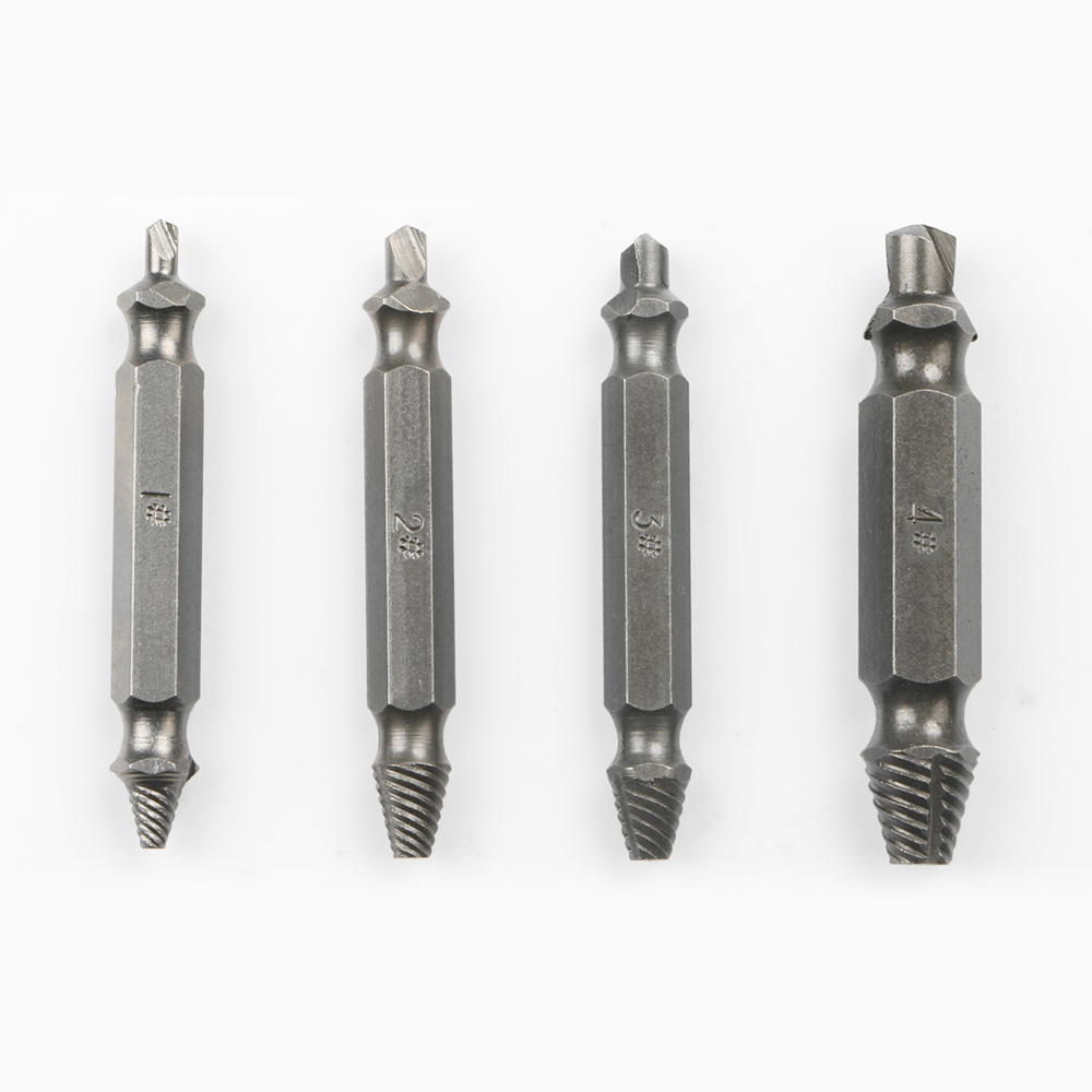 Carpentry Screw Extractor Easy Out Set Remove Broken Bolt 1# 2# 3# 4#