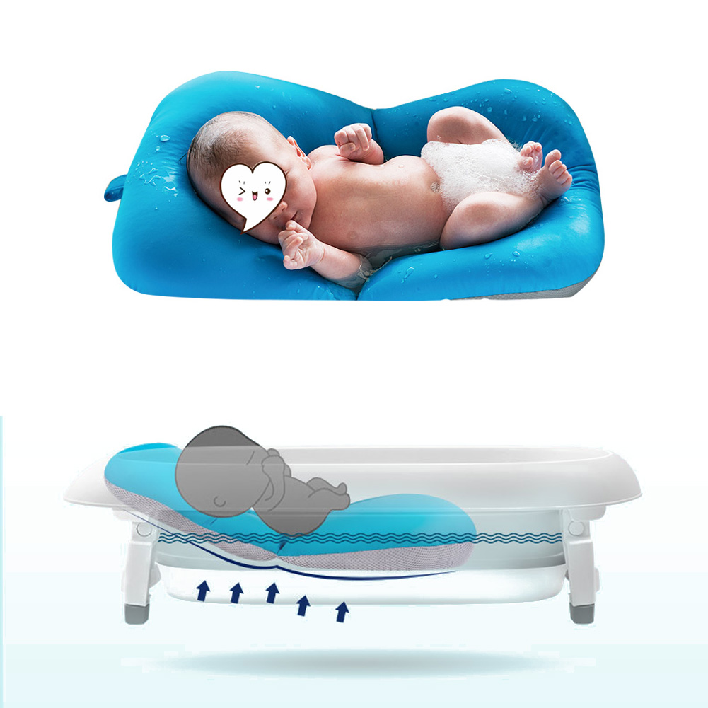 Elastic Non-slip Soft Mat Newborn Seat Bathtub Pad Bed for Baby ...