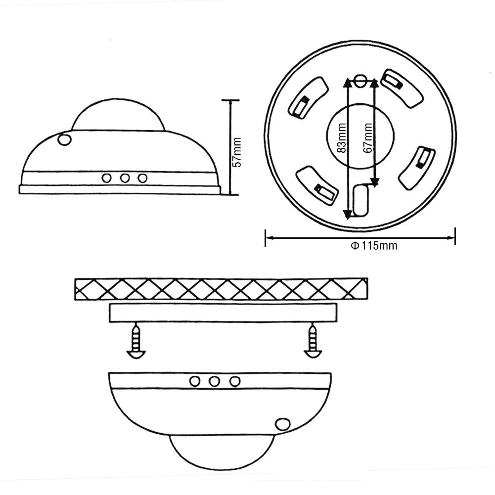 new 360 u00b0 pir ceiling motion    movement presence sensor detector light switch