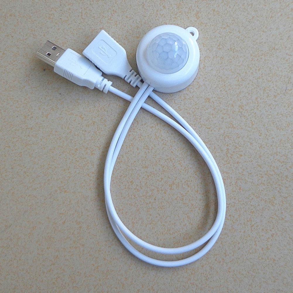 Indexbild 10 - Mini USB Schalter Infrarot PIR Bewegungsmelder Wand Lichtsensor für Nachtlicht L