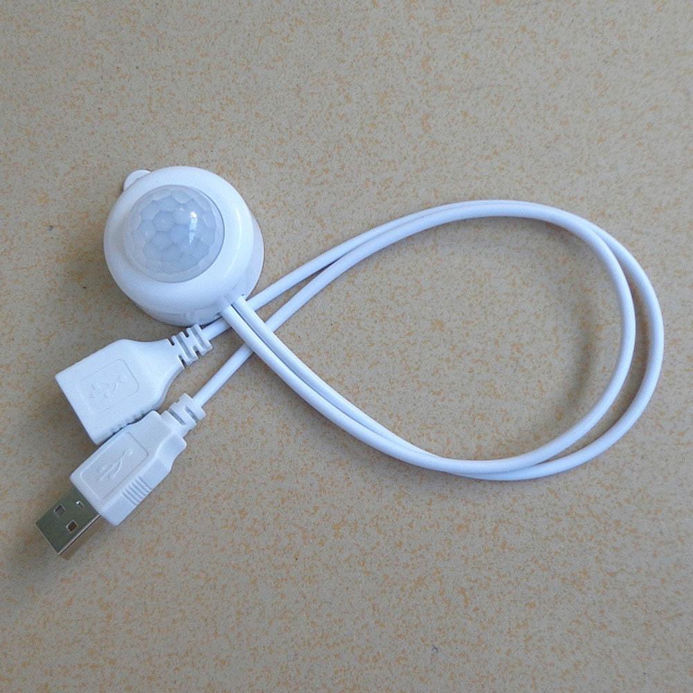 Indexbild 12 - Mini USB Schalter Infrarot PIR Bewegungsmelder Wand Lichtsensor für Nachtlicht L