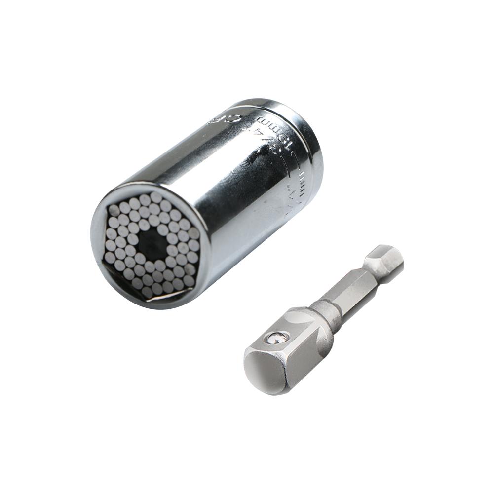 Magique Grip Universel Gator Socket Adaptateur Avec Perceuse électrique Adaptateur Outil 7-19 mm